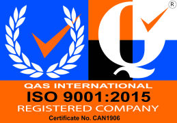 QAS International (ISO 9001:2015 logo)